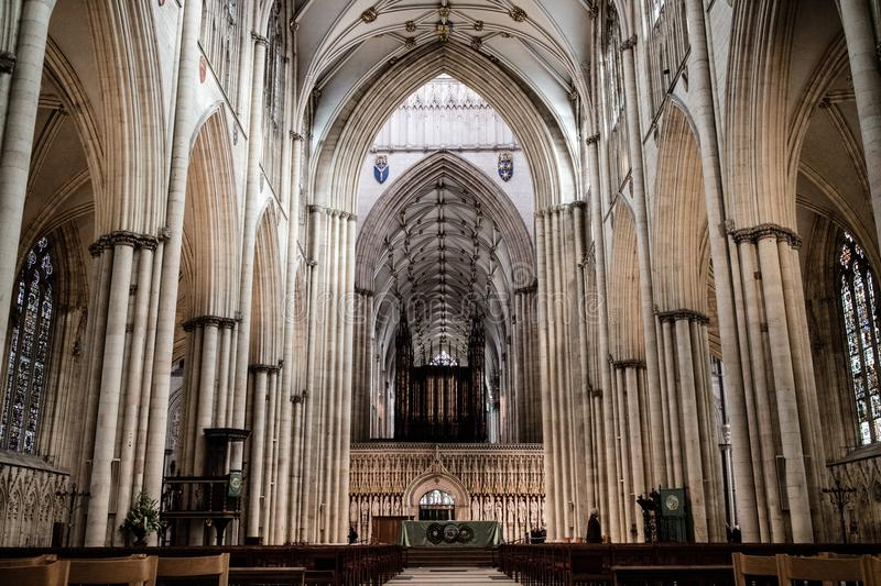 York, Regno Unito - 02/08/2018: York interno Minster immagini stock