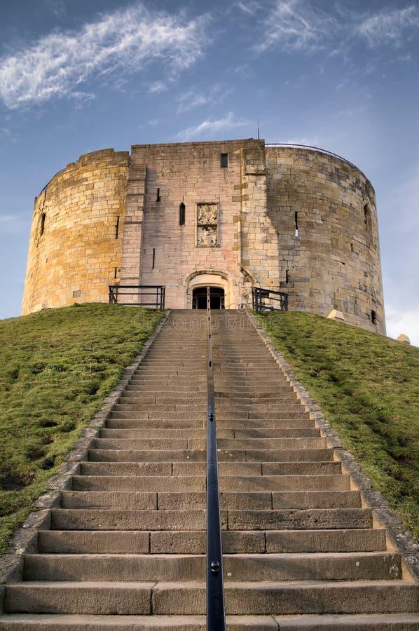 York-Schloss in der Stadt von York lizenzfreie stockfotos