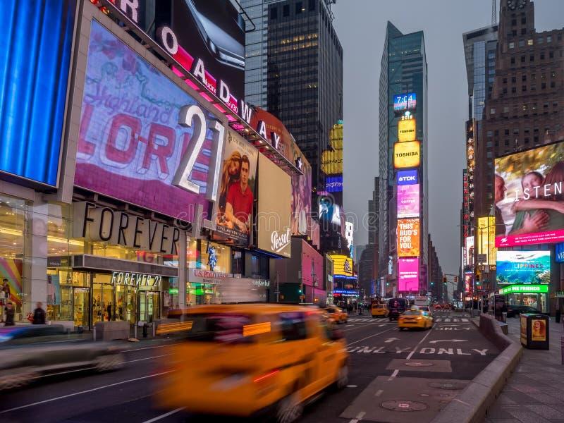 York-Stadtgelbfahrerhäuser, Times Square lizenzfreies stockfoto