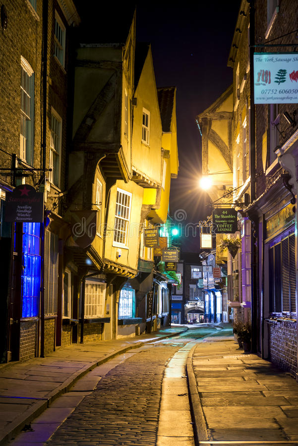 Free YORK, UK - MARCH 30: The Shambles Is A Former Butchers  Street I Royalty Free Stock Images - 30294029