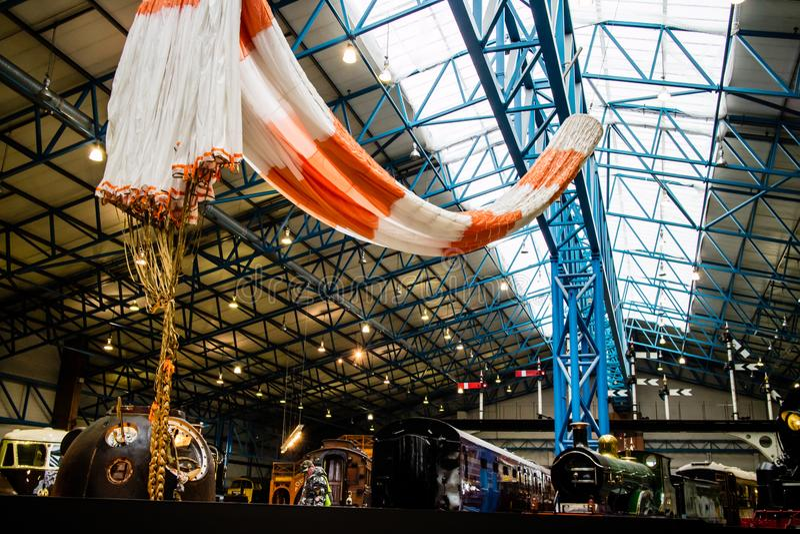 York, Vereinigtes Königreich - 02/08/2018: Tim Peake-` s Soyuz Raumfahrzeug lizenzfreie stockfotografie