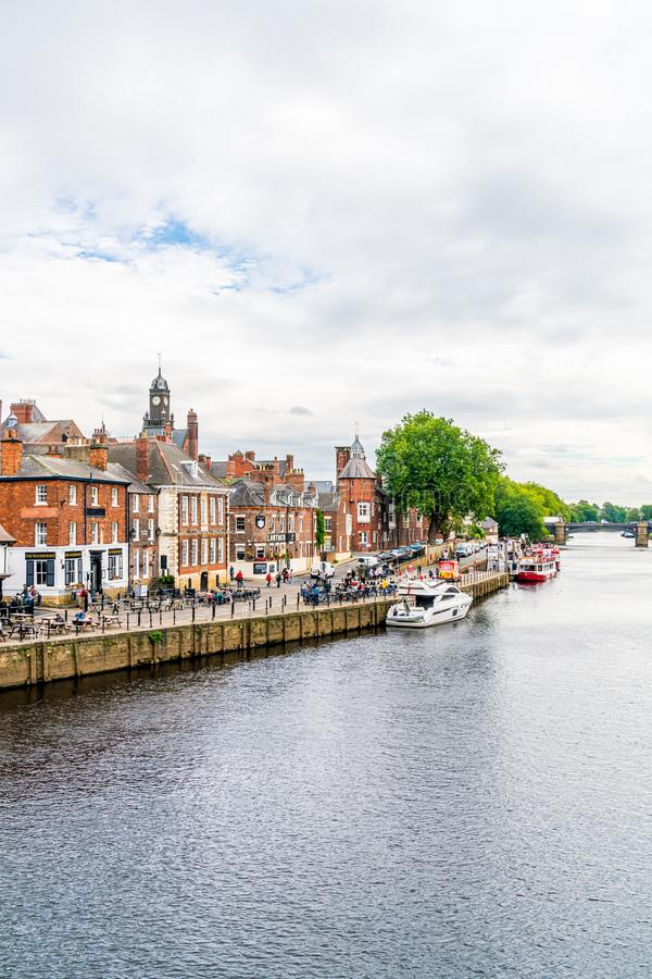 York, Yorkshire, Zjednoczone Królestwo - SEP 3, 2019: York City with River Ouse in York UK zdjęcie royalty free