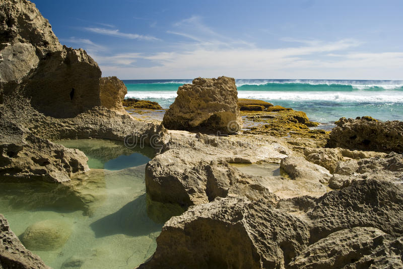 Yorke's Rock pools stock photos
