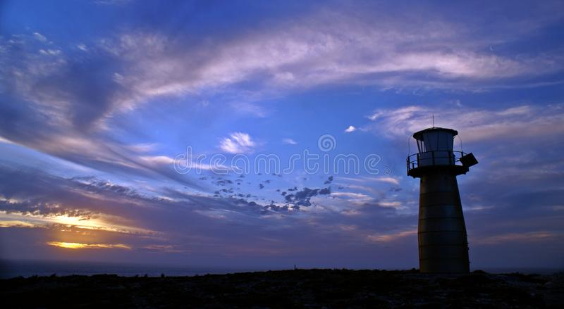 Yorkes light house during sunset royalty free stock image