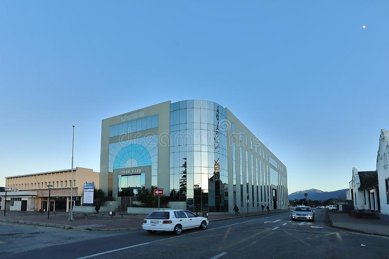 Yorkpark in the heart of George in South Africa. George, South Africa, 3 August 2018 - The lovely Yorkpark buidling in Yorkstreet, George, South Africa. It was stock photos