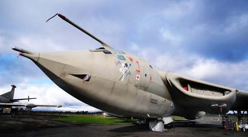Yorkshire Air Museum, Elvington, York, UK, 21/10/2019. Handley Page Victor nuclear bomber. Yorkshire Air Museum, Elvington, York, UK, 21/10/2019. The Handley stock image