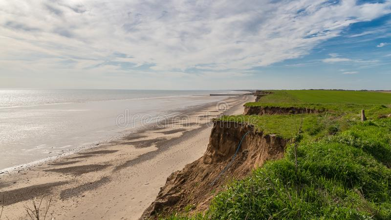 Barmston Beach, East Riding of Yorkshire, UK royalty free stock images