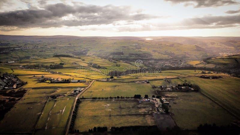 Yorkshire England Förenade kungariket UK landskap royaltyfri fotografi