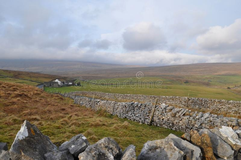 Yorkshire lake district stone walls royalty free stock photos