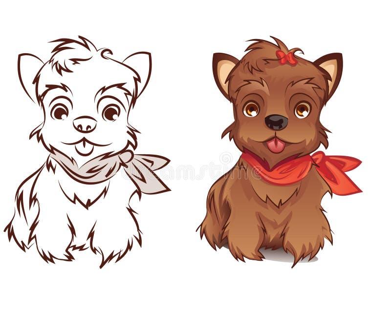 Yorkshire Terrier stock illustrationer
