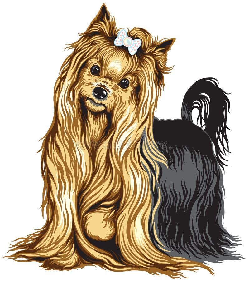 Yorkshire Terrier vektor illustrationer