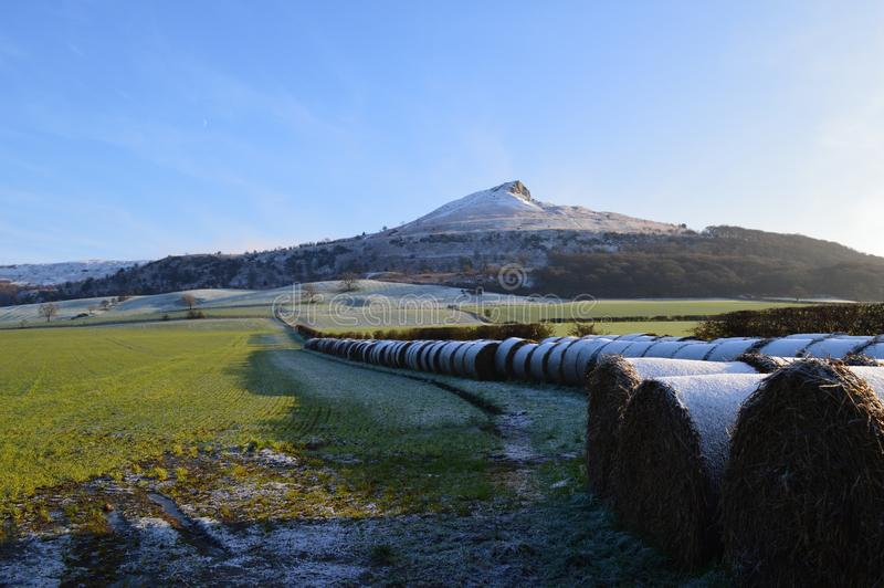 Yorkshire vinter royaltyfria foton