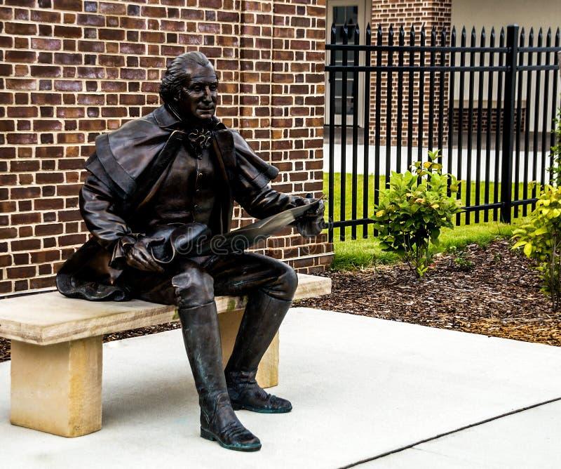 Yorktown, Etats-Unis - 8 août 2015 : George Washington Stat image stock