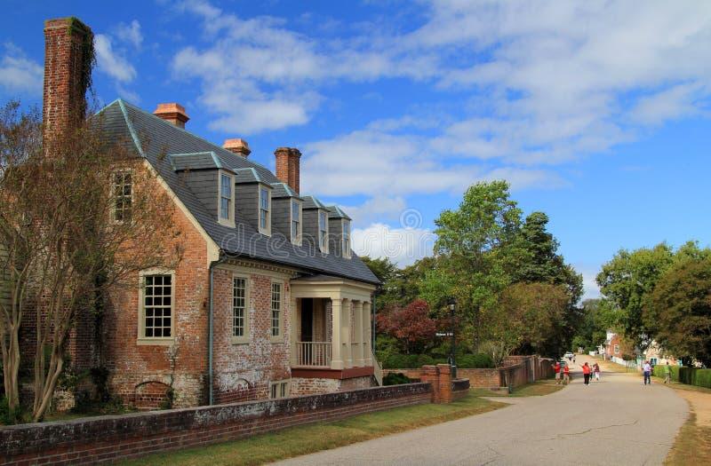 Yorktown Main Street fotografia de stock royalty free