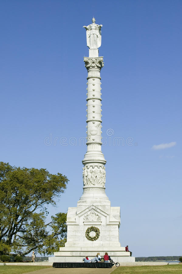 Free Yorktown Victory Monument In Colonial National Historical Park, Historical Triangle, Virginia. The Statue Was Commissioned By The Royalty Free Stock Image - 52308856