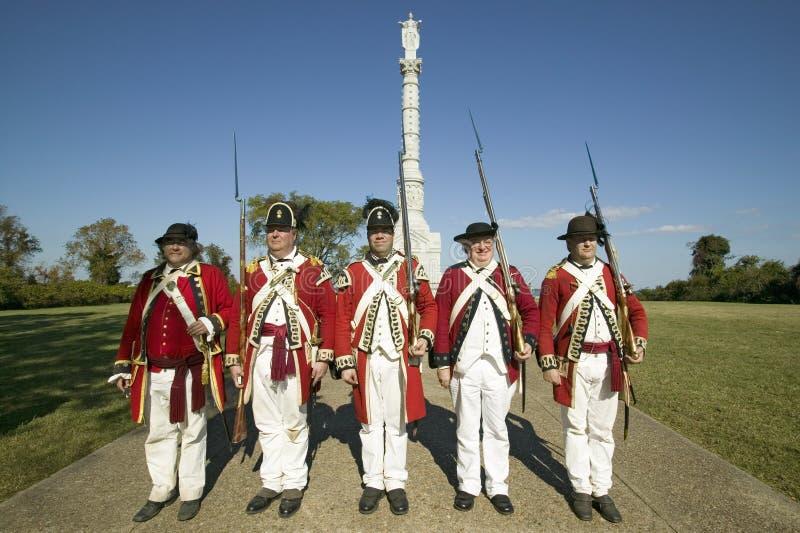 Yorktown Zwycięstwa Zabytek w Kolonialnym Krajowym Dziejowym Parku, Dziejowy Trójbok, Virginia Statua zlecał zdjęcia stock