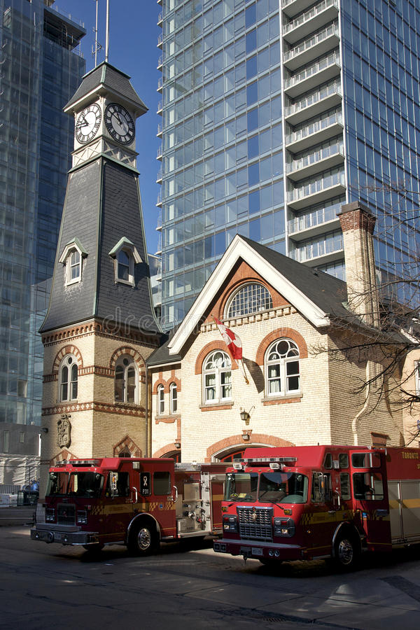Yorkville Fire Station #312 - Toronto. Historic Yorkville Firehall #312 is located west of Yonge Street on the north side of Yorkville Avenue. It is one of the royalty free stock photography