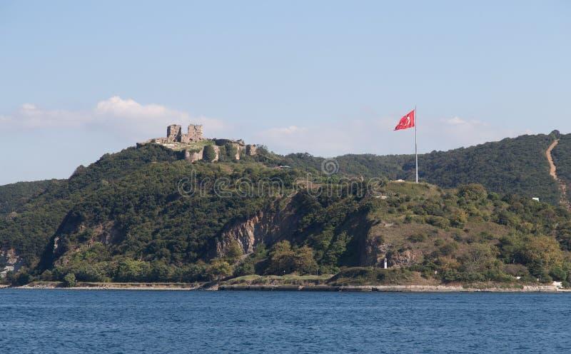 Yoros slott i Anadolu Kavagi royaltyfri foto