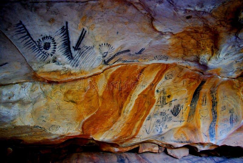 Yorumbulla Caves, Flinders Ranges royalty free stock photo