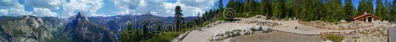 Yosemite Califórnia panorâmico fotografia de stock