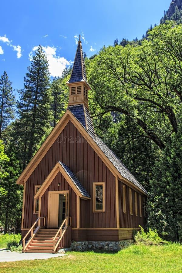 Yosemite Chapel royalty free stock photography