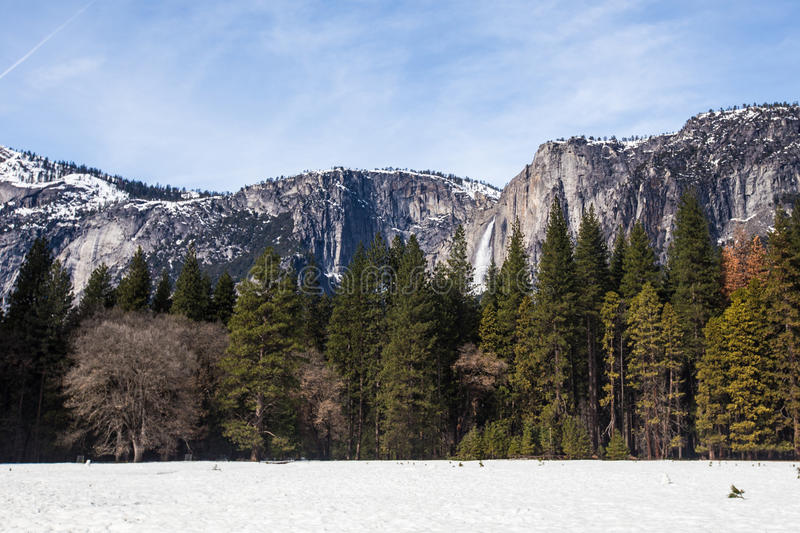 Yosemite Fall in Winter royalty free stock images