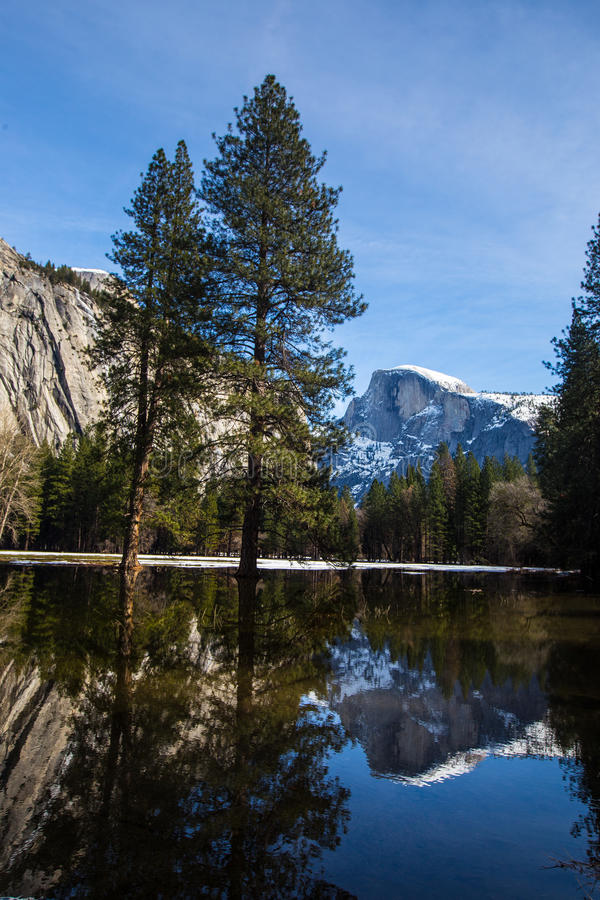 Yosemite Fall in Winter royalty free stock image