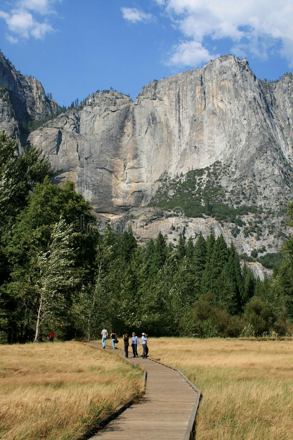 Yosemite Falls with no water stock images