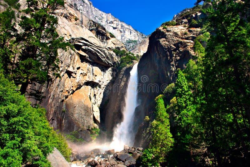 Yosemite Falls, parque nacional de Yosemite fotos de archivo libres de regalías