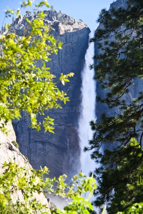 Yosemite Falls, serra Nevada, Califórnia, EUA fotografia de stock royalty free
