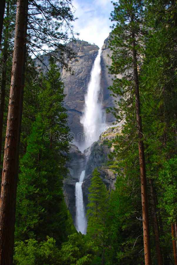 Yosemite Falls, Yosemite National Park. stock image