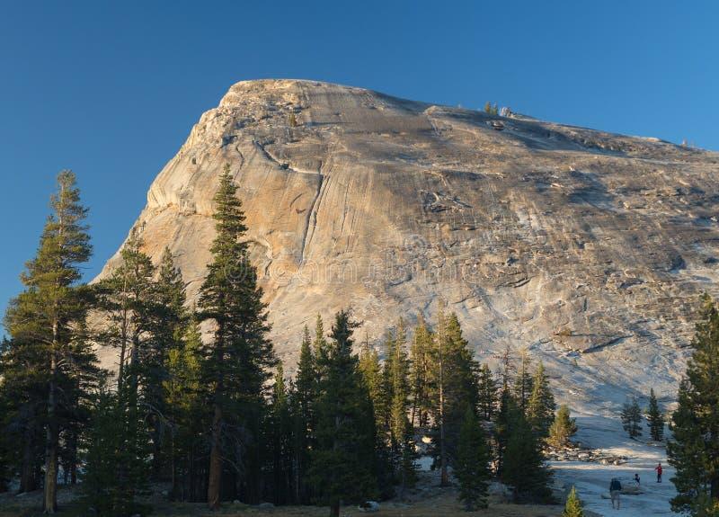 Yosemite during golden hour. Lambert Mountain in Yoesmite during golden hour stock image