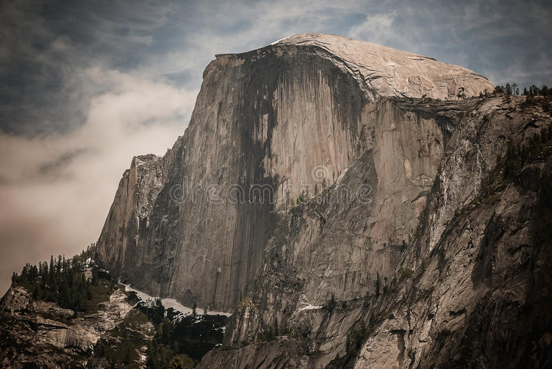 Yosemite. Half Dome As Seem From The Valley Floor In  National Park stock photography