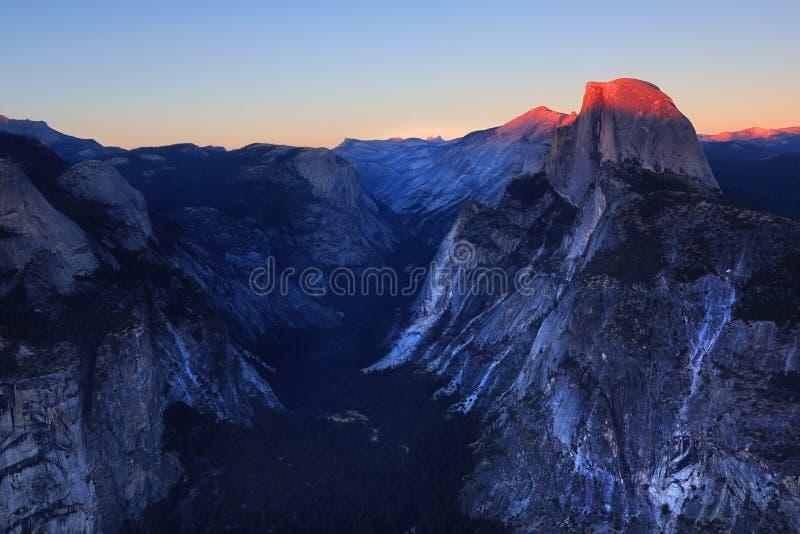 Yosemite - meia abóbada imagens de stock