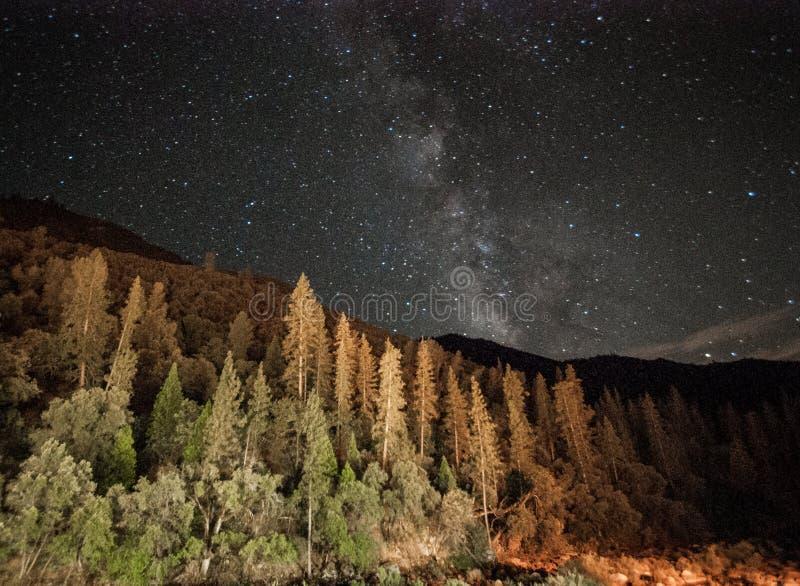Yosemite Milky sposobu usa Ameryka obywatel fotografia stock