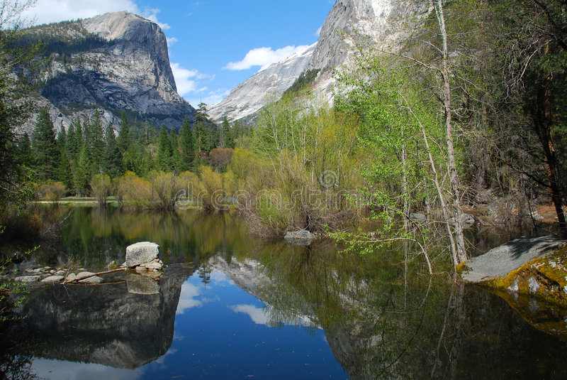 Download Yosemite Mirror Lake stock image. Image of brown, national - 9331807