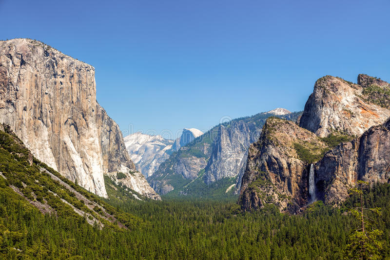 Yosemite Nationaal Park, Californië, de V royalty-vrije stock foto's