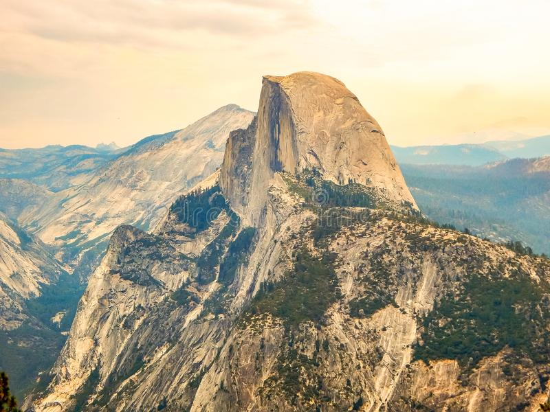Yosemite National Park Half Dome Mountain. A photo of the Half Dome mountain in Yosemite National Park stock images