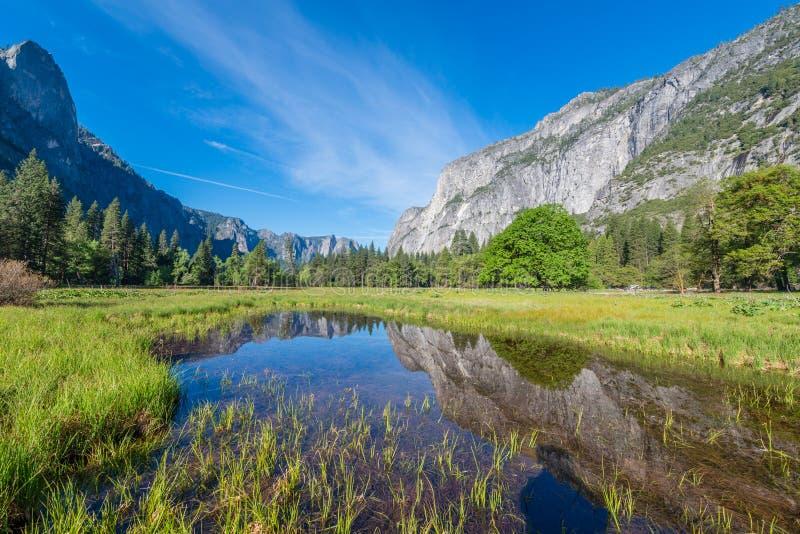 Yosemite National Park Reflection Stock Image