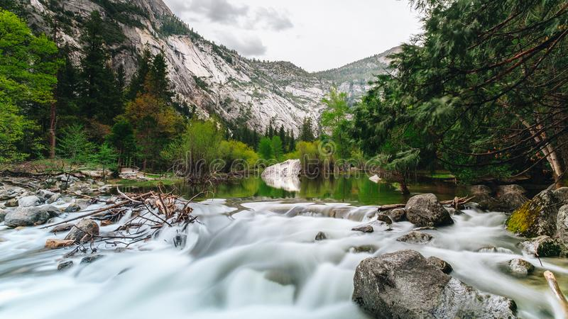Yosemite National Park is a United States national park. Lying in the western Sierra Nevada of California, Designated a World Heritage Site in 1984 stock photos
