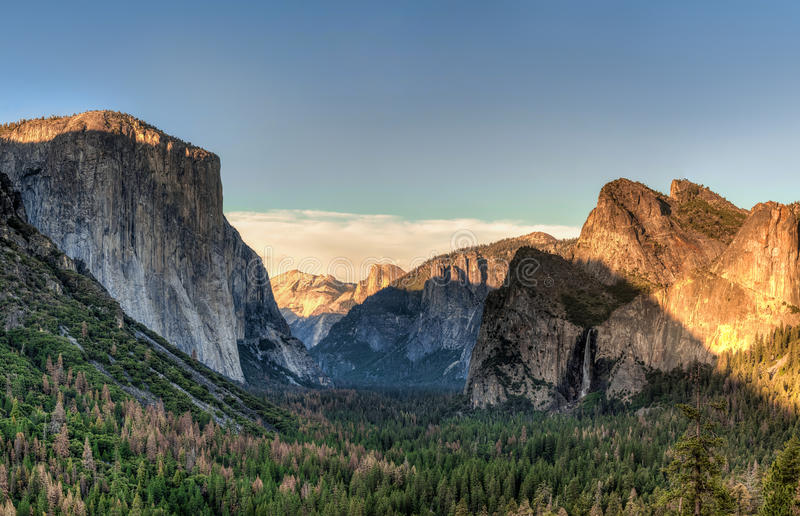 Yosemite National Park Valley from Tunnel View royalty free stock photo