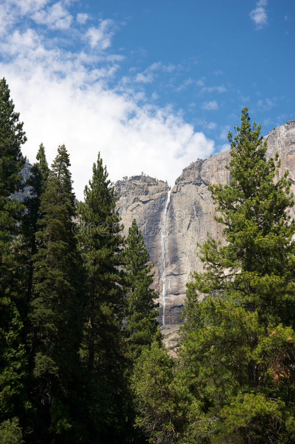 Yosemite National Park water fall during Summer. Yosemite National Park water fall royalty free stock photography