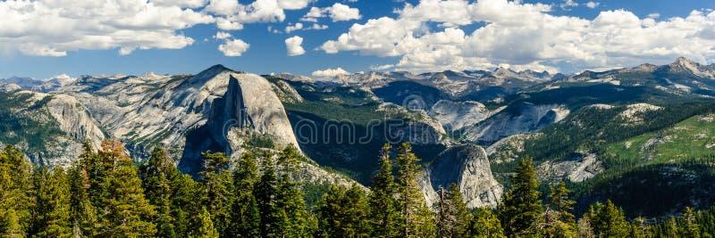 Yosemite panorama half dome stock photography