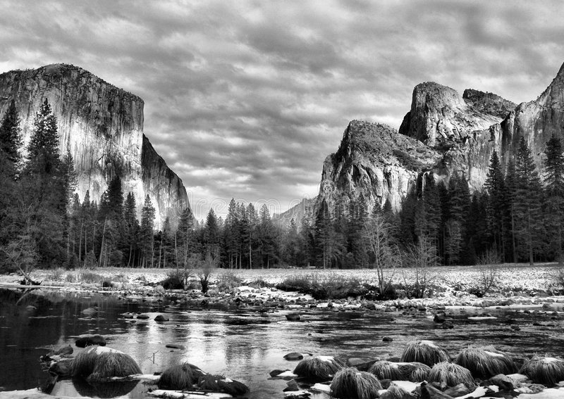 Yosemite Park. Pic taken at Yosemite Park February 2007 stock images