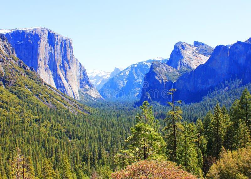 Yosemite park narodowy, Kalifornia, usa. Krajobraz zdjęcie stock