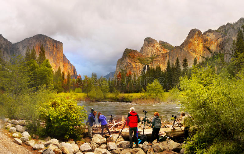 Yosemite Sunset, Yosemite National Park royalty free stock photos