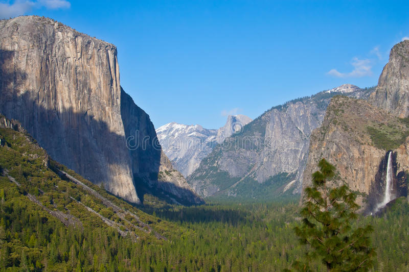 Yosemite Valley. View over Yosemite Valley in Yosemite Park, California royalty free stock photo