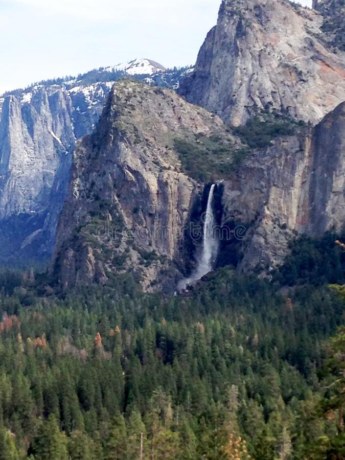 Yosemite Valley as seen from Tunnel View. Sierra Nevada in Northern California. United States stock images