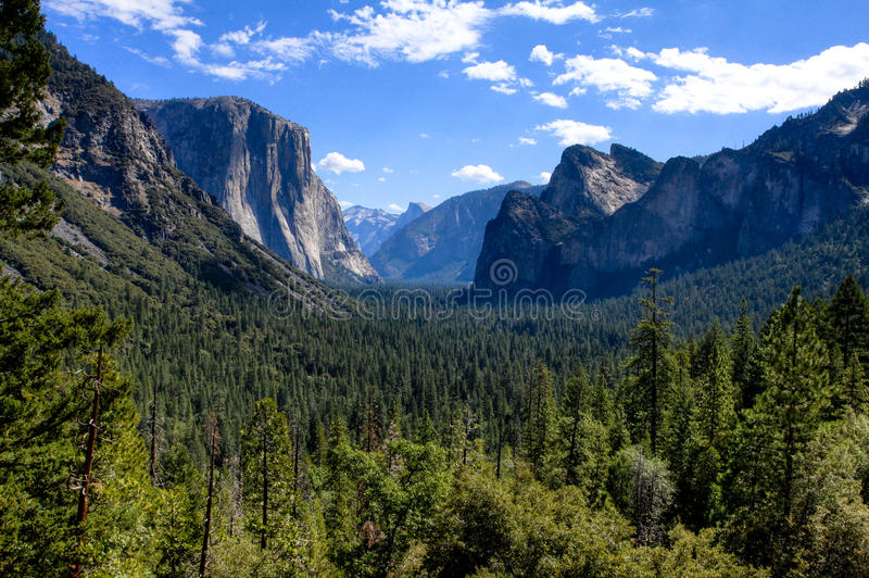 Download Yosemite Valley With Blue Sky And Clouds Stock Photography - Image: 26485542