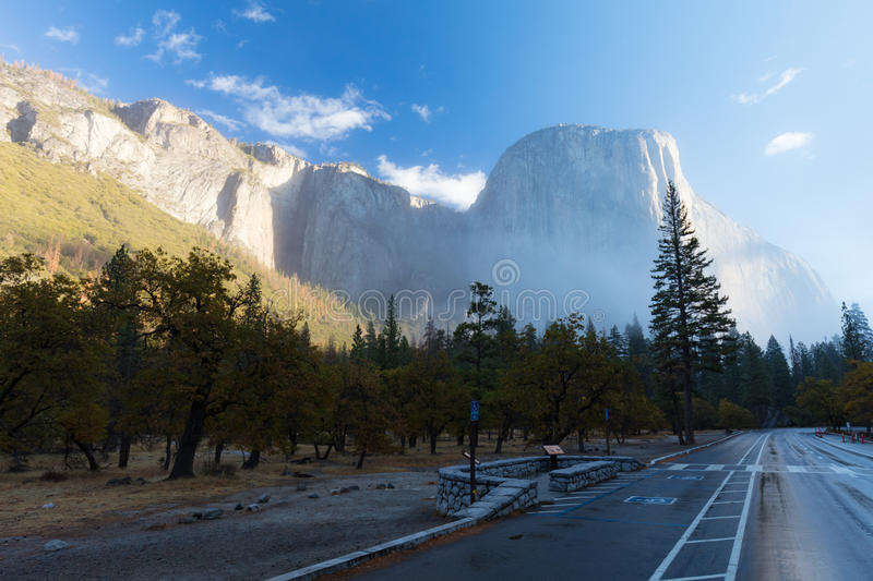 Yosemite Valley and El Capitan stock image